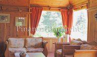 Lago Gutierrez, casa en alquiler con costa para 6 pers