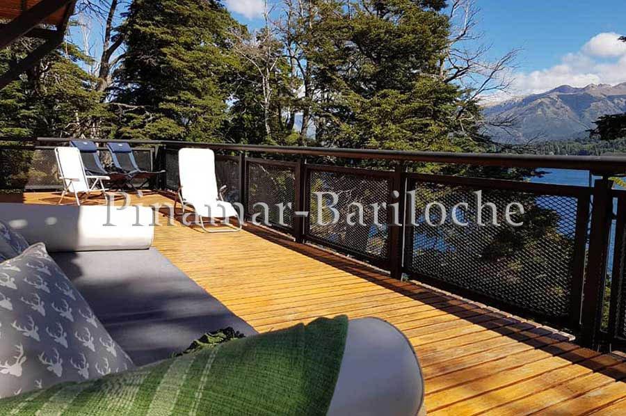 casa en alquiler en bariloche con vista costa de lago y amarre