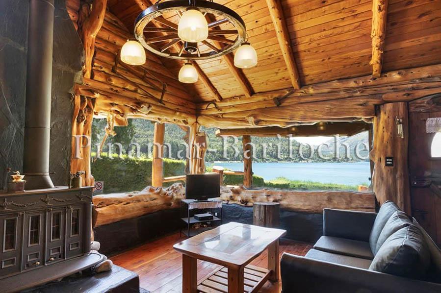 alquiler lago gutierrez cabaña para 4 con costa